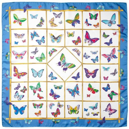 2bdb5c848 ... ASPINAL OF LONDON MULTICOLOURED BUTTERFLIES SILK SCARF / FORGET ME NOT.  Alternate shots