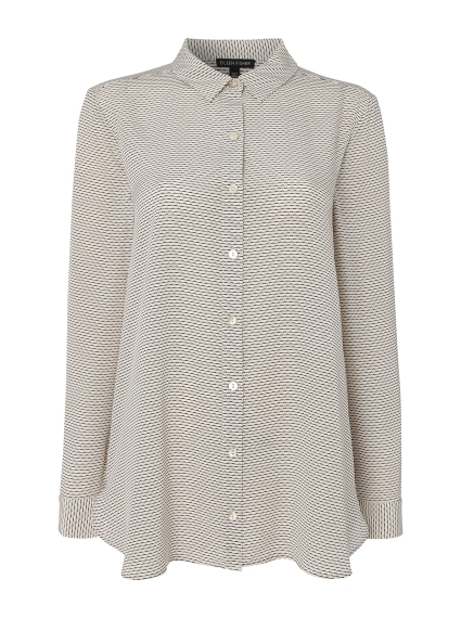 829e298442941b EILEEN FISHER Classic collar printed silk shirt at Ede   Ravenscroft ...